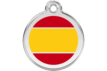 Red Dingo Enamel Tag Spanish Flag Yellow 01-ES-YE (1ESYS / 1ESYM / 1ESYL)