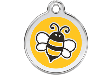 Red Dingo Enamel Tag Bumble Bee Yellow 01-EY-YE (1EYYS / 1EYYM / 1EYYL)