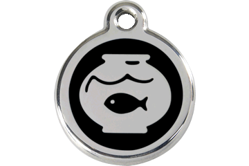 Red Dingo Enamel Tag Fish Bowl Black 01-FB-BB (1FBBS)
