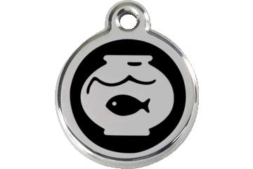 Red Dingo Médaillon en émail Fish Bowl Noire 01-FB-BB (1FBBS)