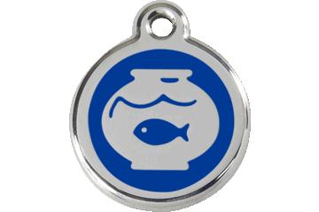 Red Dingo Médaillon en émail Fish Bowl Bleu Foncé 01-FB-DB (1FBNS)