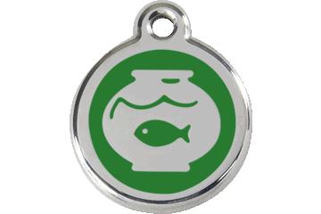 Red Dingo Médaillon en émail Fish Bowl Vert 01-FB-GR (1FBGS)