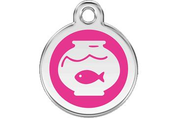 Red Dingo Médaillon en émail Fish Bowl Rose Bonbon 01-FB-HP (1FBHPS)