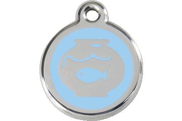 Red Dingo Médaillon en émail Fish Bowl Bleu Clair 01-FB-LB (1FBLBS)