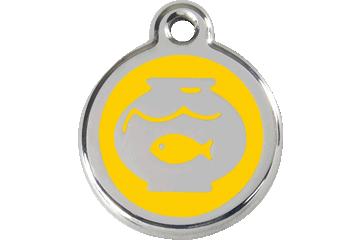 Red Dingo Médaillon en émail Fish Bowl Jaune 01-FB-YE (1FBYS)