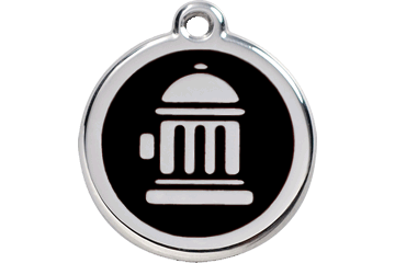 Red Dingo Enamel Tag Fire Hydrant Black 01-FH-BB (1FHBS / 1FHBM / 1FHBL)