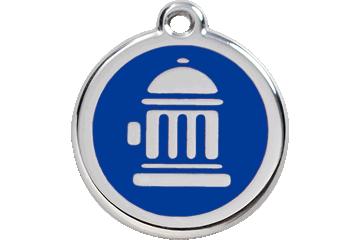 Red Dingo Médaillon en émail Fire Hydrant Bleu Foncé 01-FH-DB (1FHNS / 1FHNM / 1FHNL)
