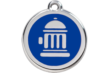Red Dingo Enamel Tag Fire Hydrant Dark Blue 01-FH-DB (1FHNS / 1FHNM / 1FHNL)