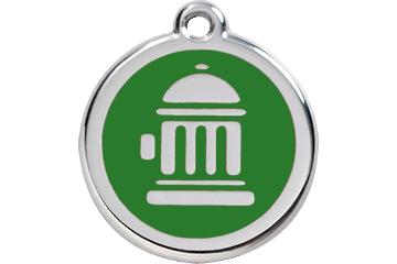 Red Dingo Enamel Tag Fire Hydrant Green 01-FH-GR (1FHGS / 1FHGM / 1FHGL)