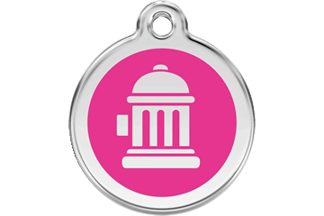 Red Dingo Enamel Tag Fire Hydrant Hot Pink 01-FH-HP (1FHHPS / 1FHHPM / 1FHHPL)