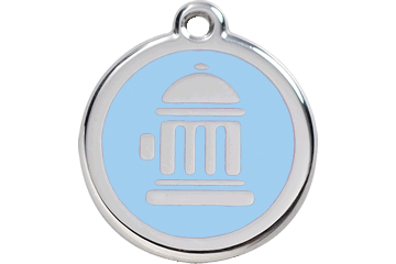 Red Dingo Enamel Tag Fire Hydrant Light Blue 01-FH-LB (1FHLBS / 1FHLBM / 1FHLBL)