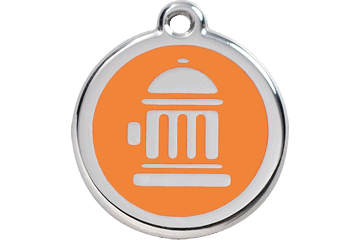 Red Dingo Enamel Tag Fire Hydrant Orange 01-FH-OR (1FHOS / 1FHOM / 1FHOL)