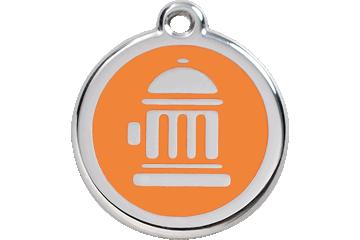 Red Dingo Médaillon en émail Fire Hydrant Orange 01-FH-OR (1FHOS / 1FHOM / 1FHOL)