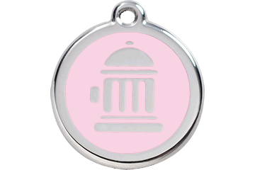 Red Dingo Enamel Tag Fire Hydrant Pink 01-FH-PK (1FHPKS / 1FHPKM / 1FHPKL)