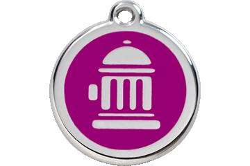 Red Dingo Enamel Tag Fire Hydrant Purple 01-FH-PU (1FHPS / 1FHPM / 1FHPL)