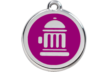 Red Dingo Enamel Tag Fire Hydrant Purple 01-FH-PU (1FHPS / 1FHPM / 1FHPL)