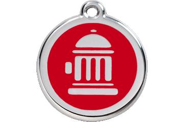 Red Dingo Médaillon en émail Fire Hydrant Rouge 01-FH-RE (1FHRS / 1FHRM / 1FHRL)