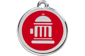 Red Dingo Enamel Tag Fire Hydrant Red 01-FH-RE (1FHRS / 1FHRM / 1FHRL)