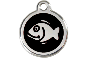 Red Dingo Enamel Tag Fish Nero 01-FI-BB (1FIBS)