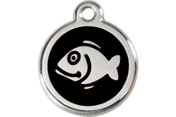 Red Dingo Enamel Tag Fish Black 01-FI-BB (1FIBS)
