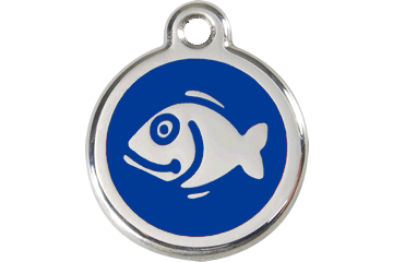 Red Dingo Enamel Tag Fish Dark Blue 01-FI-DB (1FINS)