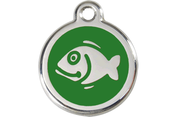 Red Dingo Enamel Tag Fish Verde 01-FI-GR (1FIGS)