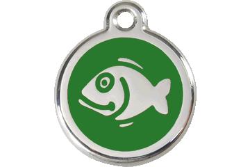 Red Dingo Enamel Tag Fish Green 01-FI-GR (1FIGS)