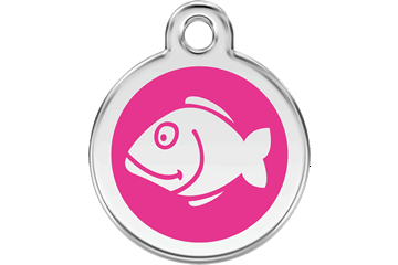 Red Dingo Tiermarke mit Emaille Fish Hot Pink 01-FI-HP (1FIHPS)