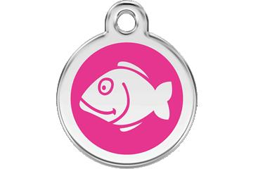 Red Dingo Enamel Tag Fish Hot Pink 01-FI-HP (1FIHPS)