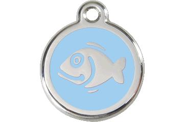Red Dingo Enamel Tag Fish Light Blue 01-FI-LB (1FILBS)