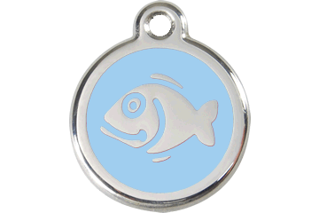 Red Dingo Enamel Tag Fish Light Blue 01-FI-LB (1FILBS)