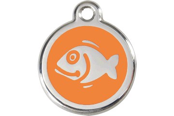 Red Dingo Tiermarke mit Emaille Fish Orange 01-FI-OR (1FIOS)