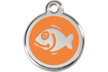 Red Dingo Enamel Tag Fish Orange 01-FI-OR (1FIOS)