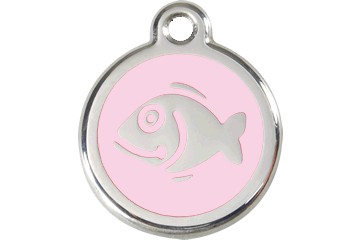 Red Dingo Enamel Tag Fish Rosa 01-FI-PK (1FIPKS)