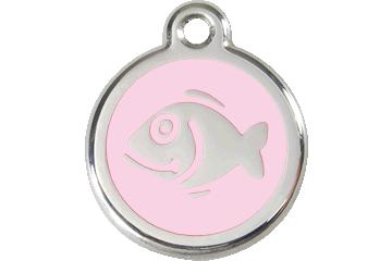 Red Dingo Enamel Tag Fish Pink 01-FI-PK (1FIPKS)