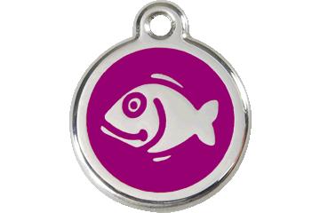 Red Dingo Médaillon en émail Poisson Violet 01-FI-PU (1FIPS)