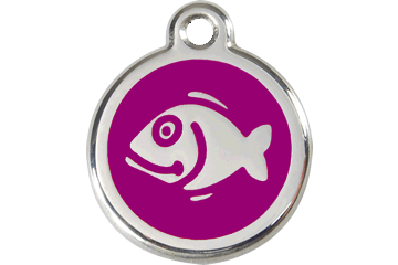 Red Dingo Enamel Tag Fish Purple 01-FI-PU (1FIPS)