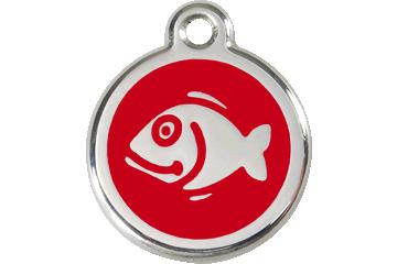 Red Dingo Médaillon en émail Fish Rouge 01-FI-RE (1FIRS)