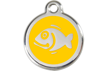 Red Dingo Enamel Tag Fish Giallo 01-FI-YE (1FIYS)