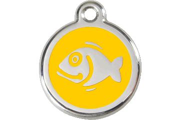 Red Dingo Médaillon en émail Fish Jaune 01-FI-YE (1FIYS)