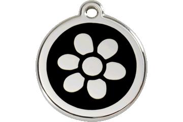 Red Dingo Médaillon en émail Flower Noire 01-FW-BB (1FWBS / 1FWBM / 1FWBL)