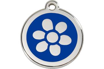Red Dingo Médaillon en émail Flower Bleu Foncé 01-FW-DB (1FWNS / 1FWNM / 1FWNL)
