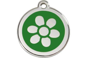 Red Dingo Médaillon en émail Flower Vert 01-FW-GR (1FWGS / 1FWGM / 1FWGL)