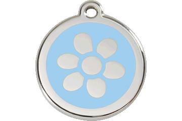 Red Dingo Médaillon en émail Flower Bleu Clair 01-FW-LB (1FWLBS / 1FWLBM / 1FWLBL)