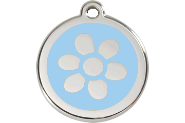 Red Dingo Enamel Tag Flower Light Blue 01-FW-LB (1FWLBS / 1FWLBM / 1FWLBL)