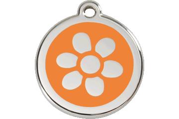 Red Dingo Médaillon en émail Flower Orange 01-FW-OR (1FWOS / 1FWOM / 1FWOL)