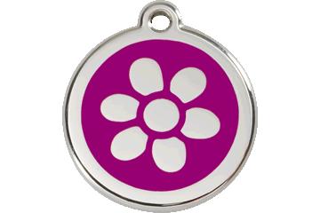 Red Dingo Médaillon en émail Flower Violet 01-FW-PU (1FWPS / 1FWPM / 1FWPL)