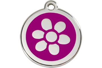 Red Dingo Enamel Tag Flower Purple 01-FW-PU (1FWPS / 1FWPM / 1FWPL)