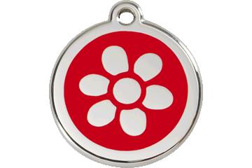 Red Dingo Médaillon en émail Flower Rouge 01-FW-RE (1FWRS / 1FWRM / 1FWRL)