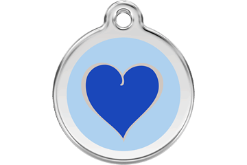 Red Dingo Enamel Tag Heart Dark Blue 01-HN-DB (1HNNS / 1HNNM / 1HNNL)